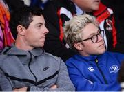 20 May 2016; Golfer Rory McIlroy, left, and singer Niall Horan watch the Guinness PRO12 Play-off match between Leinster and Ulster at the RDS Arena in Dublin. Photo by Ramsey Cardy/Sportsfile