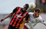 20 May 2016; Killian Cantwell of Galway United in action against Ismahil Akinade of Bohemians during the Irish Daily Mail FAI Cup Second Round between Bohemians and Galway United in Dalymount Park, Dublin. Photo by David Maher/Sportsfile