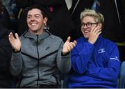 20 May 2016; Golfer Rory McIlroy, left, and Niall Horan of One Direction watch on during the Guinness PRO12 Play-off match between Leinster and Ulster at the RDS Arena in Dublin. Photo by Stephen McCarthy/Sportsfile