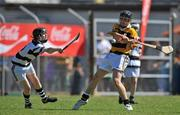 20 June 2010; Craig Connolly, Na Piarsaigh, Cork, in action against David Cullinane, Turloughmore, Galway. Coca-Cola GAA Féile na nGael Finals 2010, Division 1 Hurling Final. Cusack Park, Ennis, Co. Clare. Picture credit: Diarmuid Greene / SPORTSFILE
