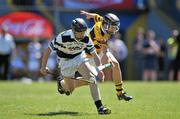 20 June 2010; Sean Linnane, Turloughmore, Galway, in action against Wesley Cronin, Na Piarsaigh, Cork, Division 1 Hurling Final. Coca-Cola GAA Féile na nGael Finals 2010. Cusack Park, Ennis, Co. Clare. Picture credit: Diarmuid Greene / SPORTSFILE