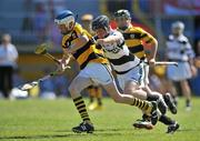 20 June 2010; Dayne Lee, Na Piarsaigh, Cork, in action against Ultan Hurney, Turloughmore, Galway, Division 1 Hurling Final. Coca-Cola GAA Féile na nGael Finals 2010. Cusack Park, Ennis, Co. Clare. Picture credit: Diarmuid Greene / SPORTSFILE