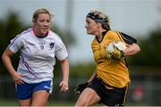 21 May 2016; Donna English of Ulster in action against  Megan Glynn of Connacht in the MMI Ladies Football Interprovincial Football Cup Final, Ulster v Connacht, in Kinnegad, Co. Westmeath. Photo by Sam Barnes/Sportsfile