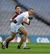 21 May 2016; Tommy Moolick of Kildare in action against Ciarán Lyng of Wexford in the Leinster GAA Football Senior Championship, Quarter-Final, Wexford v Kildare, at Croke Park, Dublin. Photo by Piaras Ó Mídheach/Sportsfile