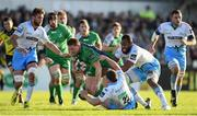 21 May 2016; Tom McCartney of Connacht is tackled by Duncan Weir, 22, and Leone Nakarawa of Glasgow Warriors during the Guinness PRO12 Play-off match between Connacht and Glasgow Warriors at the Sportsground in Galway. Photo by Stephen McCarthy/Sportsfile