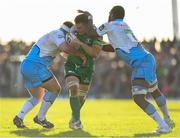 21 May 2016; Jake Heenan of Connacht is tackled by D'arcy Rae, left, and Leone Nakarawa of Glasgow Warriors during the Guinness PRO12 Play-off match between Connacht and Glasgow Warriors at the Sportsground in Galway. Photo by Stephen McCarthy/Sportsfile
