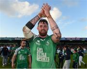 21 May 2016; Aly Muldowney of Connacht celebrates after his side's victory in the Guinness PRO12 Play-off match between Connacht and Glasgow Warriors at the Sportsground in Galway. Photo by Ramsey Cardy/Sportsfile