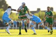 21 May 2016; Ultan Dillane of Connacht is tackled by Leone Nakarawa, left, and Jonny Gray of Glasgow Warriors during the Guinness PRO12 Play-off match between Connacht and Glasgow Warriors at the Sportsground in Galway. Photo by Stephen McCarthy/Sportsfile