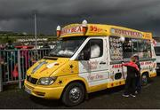 22 May 2016; Supporters purchase ice cream before the Ulster GAA Football Senior Championship, Quarter-Final, at Celtic Park, Derry. Photo by Paul Mohan/Sportsfile