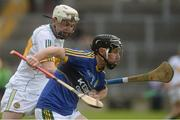 22 May 2016; John Egan of Kerry in action against Dermot Shortt of Offaly during the Leinster GAA Hurling Championship Qualifier, Round 3, between Offaly and Kerry at O'Connor Park, Tullamore, Co. Offaly.