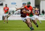 22 May 2016; Michael Ryan of Carlow in action against Killian Doyle of Westmeath during the Leinster GAA Hurling Championship Qualifier, Round 3, at Netwatch Cullen Park, Carlow.  Photo by Sam Barnes/Sportsfile