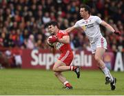 22 May 2016; Danny Heavron of Derry in action against Aidan McCrory of Tyrone during the Ulster GAA Football Senior Championship, Quarter-Final, at Celtic Park, Derry.  Photo by Paul Mohan/Sportsfile