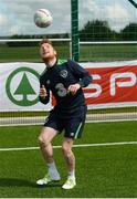 23 May 2016; SPAR treated this year's SPAR FAI Primary School 5's winners to a training session with Republic of Ireland players Jeff Hendrick, Stephen Quinn and Callum O'Dowda at the team training camp in the National Sports Campus in advance of the Republic of Ireland vs Netherlands game on Friday. SPAR is the Official Convenience Retail Partner of the FAI. Pictured is Republic of Ireland international Stephen Quinn. National Sports Campus, Abbotstown, Dublin. Photo by Piaras Ó Mídheach/Sportsfile