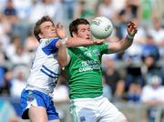 27 June 2010; Dessie Mone, Monaghan, in action against Seamus Quigley, Fermanagh. Ulster GAA Football Senior Championship Semi-Final, Fermanagh v Monaghan, Kingspan Breffni Park, Cavan. Picture credit: Oliver McVeigh / SPORTSFILE