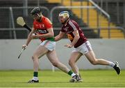 22 May 2016; xxx in action against yyy during the Leinster GAA Hurling Championship Qualifier, Round 3, at Netwatch Cullen Park, Carlow.  Photo by Sam Barnes/Sportsfile