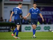 20 May 2016; Leinster's Garry Ringrose, left, and Zane Kirchner, right, during the Guinness PRO12 Play-off match between Leinster and Ulster at the RDS Arena in Dublin. Photo by Seb Daly/Sportsfile