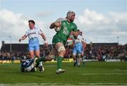 21 May 2016; Eoin McKeon of Connacht runs in for a try which was subsequently disallowed during the Guinness PRO12 Play-off match between Connacht and Glasgow Warriors at the Sportsground in Galway. Photo by Stephen McCarthy/Sportsfile