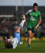 21 May 2016; Tiernan O'Halloran of Connacht escapes the tackle of Fraser Brown of Glasgow Warriors during the Guinness PRO12 Play-off match between Connacht and Glasgow Warriors at the Sportsground in Galway. Photo by Stephen McCarthy/Sportsfile