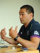 24 May 2016; Connacht head coach Pat Lam speaking during a press conference at the Sportsground, Galway. Photo by Seb Daly/Sportsfile