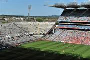 27 June 2010; A general view of the action during the Louth v Westmeath game. Leinster GAA Football Senior Championship Semi-Final, Westmeath v Louth, Croke Park, Dublin. Picture credit: Brendan Moran / SPORTSFILE