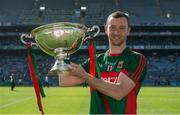4 June 2016; Keith Higgins of Mayo with the cup after the Nicky Rackard Cup Final between Armagh and Mayo in Croke Park, Dublin. Photo by Piaras Ó Mídheach/Sportsfile