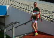 4 June 2016; Keith Higgins of Mayo brings the cup to the dressing room after the Nicky Rackard Cup Final between Armagh and Mayo in Croke Park, Dublin. Photo by Piaras Ó Mídheach/Sportsfile