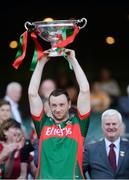 4 June 2016; Keith Higgins of Mayo lifts the cup after the Nicky Rackard Cup Final between Armagh and Mayo in Croke Park, Dublin. Photo by Piaras Ó Mídheach/Sportsfile