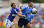 4 June 2016; James McCarthy of Dublin in action against Paul Cahillane of Laois in the Leinster GAA Football Senior Championship Quarter-Final match between Laois and Dublin in Nowlan Park, Kilkenny. Photo by Stephen McCarthy/Sportsfile