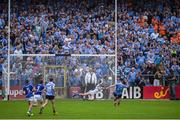 4 June 2016; Laois goalkeeper Graham Brody dives to his left to save a penalty kick from Diarmuid Connolly of Dublin late in the Leinster GAA Football Senior Championship Quarter-Final match between Laois and Dublin in Nowlan Park, Kilkenny. Photo by Ray McManus/Sportsfile