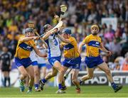 5 June 2016; Darragh Fives of Waterford in action against John Conlon, left, and David Fitzgerald of Clare during the Munster GAA Hurling Senior Championship Semi-Final match between Waterford and Clare at Semple Stadium in Thurles, Co. Tipperary. Photo by Stephen McCarthy/Sportsfile
