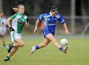 3 July 2010; Linda Wall, Waterford, in action against Maire Flanagan, Limerick. TG4 Ladies Football Munster Intermediate Championship Final, Waterford v Limerick, Castletownroche GAA Grounds, Castletownroche, Co. Cork. Picture credit: Matt Browne / SPORTSFILE