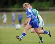 3 July 2010; Aoife McGovern, Waterford, in action against Joanne O'Gorman, Limerick. TG4 Ladies Football Munster Intermediate Championship Final, Waterford v Limerick, Castletownroche GAA Grounds, Castletownroche, Co. Cork. Picture credit: Matt Browne / SPORTSFILE