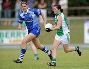 3 July 2010; Sandra Healy, Limerick, in action against Michelle Ryan, Waterford. TG4 Ladies Football Munster Intermediate Championship Final, Waterford v Limerick, Castletownroche GAA Grounds, Castletownroche, Co. Cork. Picture credit: Matt Browne / SPORTSFILE