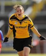 4 July 2010; Roisin Byrne, Tinryland Bennekerry, Carlow, celebrates after beating New York in the Division 4 Girls Final. Coca-Cola GAA Féile Peil na nÓg Finals 2010, Celtic Park, Derry. Picture credit: Paul Mohan / SPORTSFILE