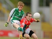 4 July 2010; Conor Whelan, Stradbally, Laois, in action against David Kelly, Moy Davitts, Mayo, in the Division 2 Boys Final. Coca-Cola GAA Féile Peil na nÓg Finals 2010, Celtic Park, Derry. Picture credit: Paul Mohan / SPORTSFILE