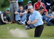 5 July 2010; Former Irish rugby international Brendan Mullin plays from the bunker onto the 6th green during the JP McManus Invitational Pro-Am. Adare Manor, Adare, Co. Limerick. Picture credit: Matt Browne / SPORTSFILE