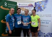 9 June 2016; Sinead Boland, Caroline Sloane, Ciara Willow and Aine Carney of Your Pace or Mine with their trophy after winning first female team with a combined time of 1:49:23 at the Grant Thornton Corporate 5K Team Challenge at the National Sports Campus in Abbotstown, Dublin. Photo by Sam Barnes/Sportsfile