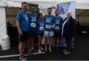 9 June 2016; Luke Griffin, Elaine Fay, Mick White and Glenn Tormey of Oldtown House are presented with their trophy by Athletics Ireland President, Georgina Drumm, right, and Grant Thornton Partner Tony Thornbury left, after winning third mixed team with a combined time of 1:36:43 at the Grant Thornton Corporate 5K Team Challenge at the National Sports Campus in Abbotstown, Dublin. Photo by Sam Barnes/Sportsfile