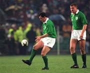 19 January1996; Eric Elwood, Ireland. Rugby. Picture credit; David Maher / SPORTSFILE