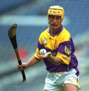 8 July 2001; Rory McCarthy, Wexford. Hurling. Picture credit; Ray McManus / SPORTSFILE