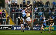 11 June 2016; Kieran Joyce and Padraig Walsh, front, of Kilkenny in action against Ryan O'Dwyer of Dublin during their Leinster GAA Hurling Senior Championship Semi-Final match between Dublin and Kilkenny at O'Moore Park in Portlaoise, Co. Laois. Photo by Daire Brennan/Sportsfile