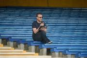 12 June 2016; Oisín Langan of Newstalk ahead of the Munster GAA Football Senior Championship Semi-Final match between Tipperary and Cork at Semple Stadium in Thurles, Co Tipperary. Photo by Piaras Ó Mídheach/Sportsfile