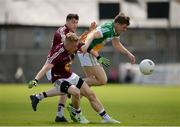 12 June 2016; Niall Darby of Offaly in action against Killian Daly and John Connellan of Westmeath during the Leinster GAA Football Senior Championship Quarter-Final match between Westmeath and Offaly at Cusack Park in Mullingar, Co. Westmeath. Photo by Seb Daly/Sportsfile