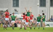 12 June 2016; Donal Keogan of Meath in action against Darran McMahon of Louth during their Leinster GAA Football Senior Championship Quarter-Final match between Meath and Louth at Parnell Park in Dublin. Photo by Daire Brennan/Sportsfile