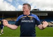 12 June 2016; Tipperary manager Liam Kearns celebrates after their Munster GAA Football Senior Championship Semi-Final match between Tipperary and Cork at Semple Stadium in Thurles, Co Tipperary. Photo by Piaras Ó Mídheach/Sportsfile