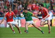 12 June 2016; Donal Keogan of Meath in action against Ryan Burns, left, and Eoghan Lafferty of Louth during their Leinster GAA Football Senior Championship Quarter-Final match between Meath and Louth at Parnell Park in Dublin. Photo by Paul Mohan/Sportsfile