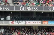 13 March 2010; A general view of the empty corporate boxes at the game. RBS Six Nations Rugby Championship, Ireland v Wales, Croke Park, Dublin. Picture credit: Ray McManus / SPORTSFILE