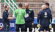15 June 2016; Republic of Ireland manager Martin O'Neill, left, with goalkeepers, from left, Shay Given, Darren Randolph, Keiren Westwood and goalkeeping coach Seamus McDonagh during squad training at Versailles in Paris, France. Photo by David Maher/Sportsfile