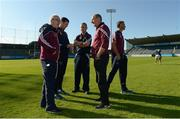 15 June 2016; Westmeath manager Adrian Moran, centre, with his selectors, from left, Michawl Walsh, Denis Coen, Michael Ryan and Darren McCormack before the Bord Gáis Energy Leinster GAA Hurling U21 Championship Semi-Final between Westmeath and Dublin at Parnell Park in Dublin. Photo by Matt Browne/Sportsfile