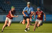 15 June 2016; Cian Boland of Dublin in action against Darragh Clinton and Ciaran Doyle of Westmeath during the Bord Gáis Energy Leinster GAA Hurling U21 Championship Semi-Final match between Westmeath and Dublin at Parnell Park in Dublin. Photo by Matt Browne/Sportsfile